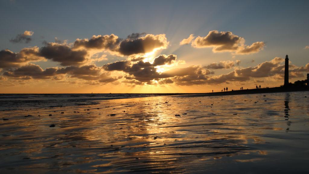Sonnenuntergang am Playa de Maspalomas • Gran Canaria