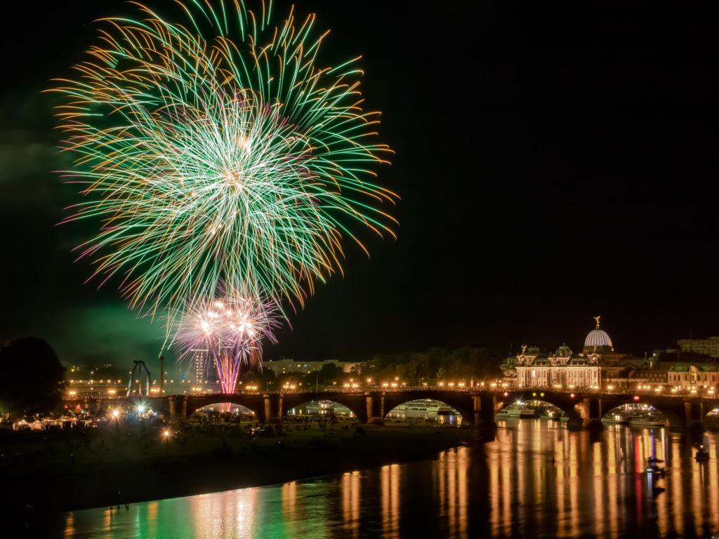 Abschlussfeuerwerk ▪ Canaletto Stadtfest, Dresden